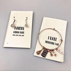 Flour Shop Bakers Earrings & Bracelet